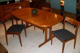 Set Of Teak Dining Table Chair Teak Dining Room Tables Table And Chairs Danish Modern Teak