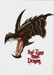 red eyes black dragon profile by the musedragon on deviantart