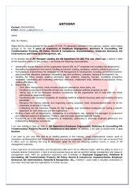 Employee Engagement Resume Hr Sample Cover Letter Format Download Cover Letter Format Templates