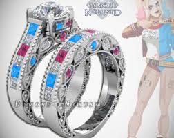 Batman Wedding Rings by Batman Wedding Ring Set Etsy