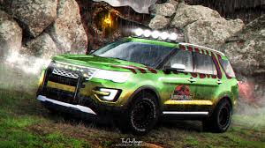 jurassic park tour car artstation jurassic park 2016 ford explorer abimelec arellano