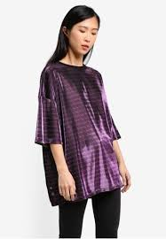 metallic blouse buy glamorous stripe metallic blouse zalora malaysia