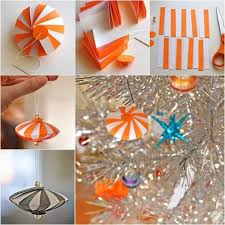 how to diy striped paper ornament