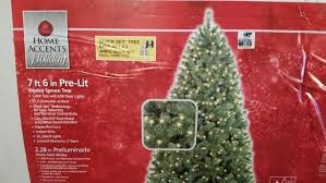new 7 6 ft wesley spruce clear pre lit tree