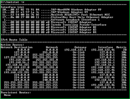 Windows Routing Table Windows Netstat Command Tutorial With Examples To List Network