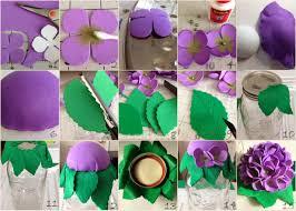 mason jar foam flowers decorative tops diy projects mason jars