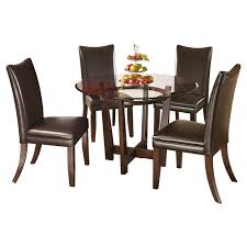 Dining Room Table Glass Dining Tables Glamorous Ashley Furniture Round Dining Table