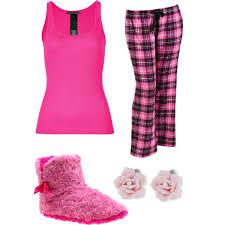 pink pajamas polyvore