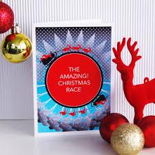 Australian Christmas The Amazing Christmas Race Card Funny Xmas Card Santa Reindeer