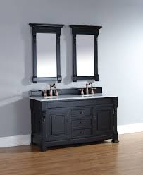 Bathroom Cabinets For Sale Abstron 60 Inch Antique Black Finish Double Traditional Bathroom