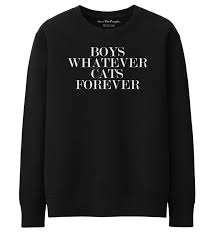 boys whatever cats forever sweater save the