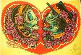 sugar skull buddhist tattoo design in 2017 real photo pictures