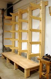 Storage Shelf Wood Plans by Wood Storage Workshop Long Planned New Shop Wood Rack
