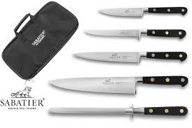 mallette couteau cuisine professionnel malette 4 couteaux 1 fusil sabatier chef au meilleur prix
