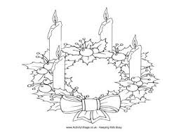 advent wreath coloring christmas coloring kids