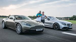 aston martin db11 drag races aston martin db11 vs mercedes amg s63 coupe top gear