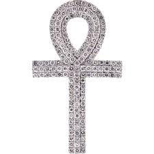 mens diamond egyptian ankh cross 14k yellow gold 4 50 ct