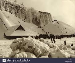 niagara falls frozen winter 1885 stock photo royalty free