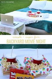 backyard movie night fun movies air mattress and summer bucket