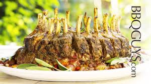 Rack Of Lamb On Grill Standing Crown Rib Roast Of Pork Recipe Alfresco Gas Grill