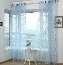 Blue Sheer Curtain Fantastic Blue Sheer Curtains And Curtains Floral Sheer Curtains