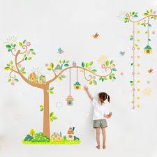 tableau chambre enfants oiseaux de bande dessinée branche d arbre wall sticker croissance