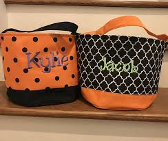 personalized trick or treat bags canvas tote bag personalized trick or treat bags
