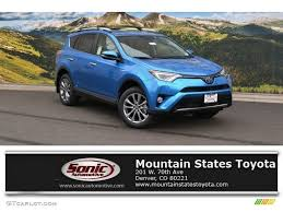 Blue Ash Color by 2016 Electric Storm Blue Toyota Rav4 Limited Hybrid Awd 111428200