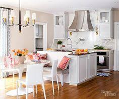 Kitchen Island With Built In Seating Family Residence By Oliver Burns Navy Kitchen Burns And Bench