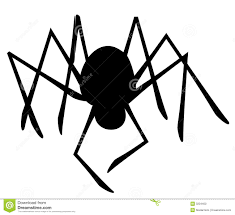 halloween spider clipart black and white isolated spider silhouette stock photo image 3234400