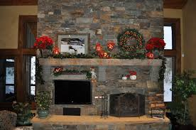 home design charming christmas mantel decor with stone design and