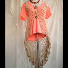 free people reduced vintage crochet lace duster vest from