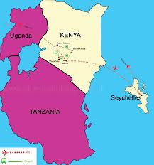 Kenya Africa Map by Kenya Safari And Seychelles Escape
