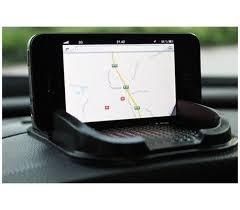 porta cellulare auto supporto antiscivolo tappetino auto per smartphone e gps porta