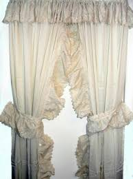 Burlap Ruffle Curtain Country Ruffled Priscilla Curtains Rare Kitchen Valances Popular