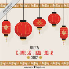 lunar new year lanterns new year background with hanging lanterns vector free