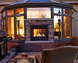 Sided Outdoor Fireplace - double sided gas fireplace indoor outdoor home design ideas