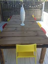 Building Outdoor Wooden Tables by Diy Outdoor Dining Tables The Garden Glove