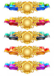 colorful ribbon colorful ribbon banner set vector premium