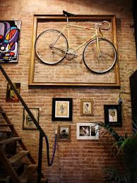 interior fabulous black white red pop art comic wall mural ideas full image for extraordinary incredible bicycle art with wooden frame hanging on vintage exposed brick walls