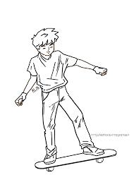 coloriage skateboard les beaux dessins de transport à imprimer