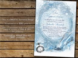cinderella invitation princess party invitations cinderella