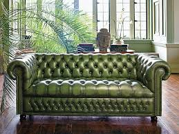 living room and furniture designing with chesterfield sofa and