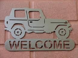 jeep 4x4 address name plaque home decor metal by artbyjack