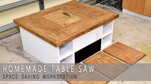 how to build a table saw workstation 4 in one homemade table saw modular plans available simple life