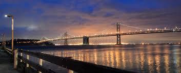 Bay Bridge Lights Oakland Bay Bridge Lights In Dusk In San Francisco California