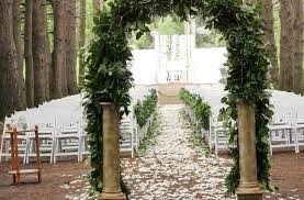 wedding arches michigan ceremony in the forest sheldon estates michigan wedding my