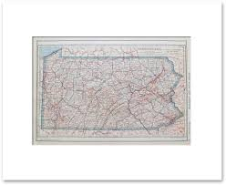 Pennsylvania State Map by States N R Vintage Maps