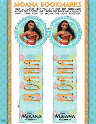 free moana printable bookmarks u2013 free party printables candy