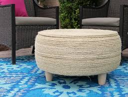 How To Make An Ottoman Out Of A Coffee Table Diy Recycled Tire Coffee Table Lou